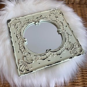 Other - Small distressed ivory mirror